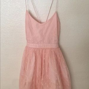 Forever 21 pink princess skater tulle dress